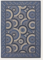 Sun Dial Cream/Blue 3084/1143 Five Seasons Outdoor Area Rug by Couristan