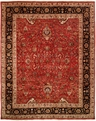 Tabernacle TK-484 Rust Black Area Rug by Kalaty
