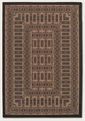 Couristan Tamworth Cocoa Black 1017/2500 Recife Rug