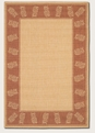 Tropics Natural TerraCotta 1177/1112 Recife Outdoor Area Rug by Couristan