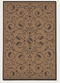 Veranda Cocoa Black 1583/2500 Recife Outdoor Area Rug by Couristan