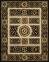 Versailles Palace VP21 Ivory Black Area Rug by Nourison
