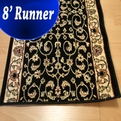 Vilis VIL-02 Black - 8 Foot Finshed Hall Runner