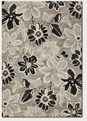 Wild Daisy Grey/Black/White 6351/5313 Everest Area Rug by Couristan