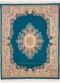 Woven Legend Aubusson 208-707 Blue Hand Knotted Hand Carved 100% Wool MER Rugs