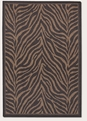 Zebra Black Cocoa 1514/0121 Recife Outdoor Area Rug by Couristan
