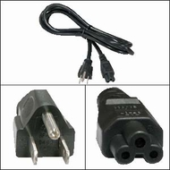 1 Foot 3 Prong Notebook Power Cord (IEC C5 to NEMA 5-15P)