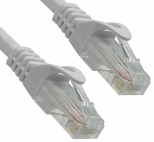 1 Foot Wh Ite CAT6 Ferrari Boot Network Patch Cable