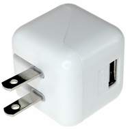 1 Port USB Wall Charger for Smartphones, Tablets, and Other USB Device - 10.5W 5V / 2.1A, ETL Listed