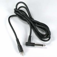 "10 Foot 1/4"" Right Angle Mono Plug to RCA Male Cable"