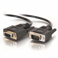 10 Foot Male / Female 9 Pin ( DB9 ) Serial Extension Cable - Black