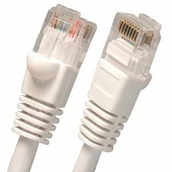 100 Foot Molded-Booted Cat5e Network Patch Cable - White