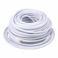 100 Foot Premium 18AWG RG6 CL2 (In-Wall) Quad Shield Gold Plated Coax Cable - White