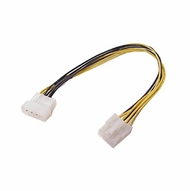 "12"" 4 Pin Molex Female Socket to 8 Pin P4 Male Plug (Not for Video Cards)"