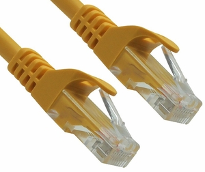 2 Foot Yellow CAT6 Ferrari Boot Network Patch Cable