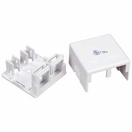 2 Port - Surface Mount Outlet Box for Keystones - White