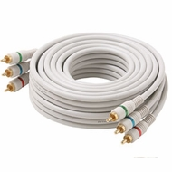 3 Foot Steren White Python� Component Video Cable