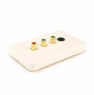 3 RCA Component Video / Toslink Optical Wall Plate  - Coupler Style