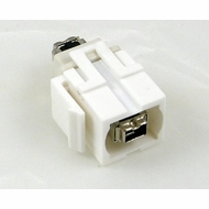4 Pin Firewire Female / Female Wall Plate Coupler Insert