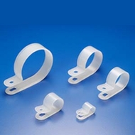 "5/8"" R-Type Clear Cable Clamp - 100 Pack"