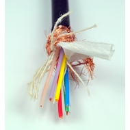 6 Conductor Shielded Audio Bulk Cable - Per Foot