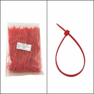 8 Inch Red Nylon Cable Ties - 100 Pack
