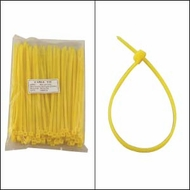 8 Inch Yellow Nylon Cable Ties - 100 Pack