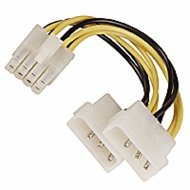 8 Pin Male to 2 Molex Power Adapter Cable, Server Board Cable