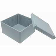 ABS Plastic Project Box 3.5 x 3.5 x 2.24 inch - Grey