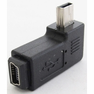 Angled USB 2.0 Mini B Adapter