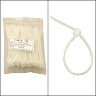 "Bag of 100 4"" Clear Cable Ties"