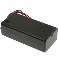 Battery Holder / Cover Type for 2 AA Battery with 6 inch AWG24 Lead (Side By Side)