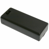 Battery Holder / Cover Type for 2 AAA Battery with 6 inch AWG24 Lead (Side By Side)