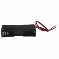 Battery Holder / Open Type for 2 AA Battery with 6 inch 24AWG Lead (End to End)