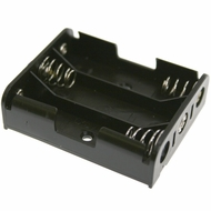 Battery Holder / Open Type for 3 AA Battery with 6 inch 27AWG Lead (Side By Side)