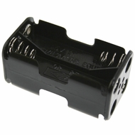 Battery Holder / Open Type for 4 AA Battery with 6 inch 24AWG Lead (End to End)