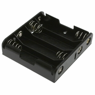 Battery Holder / Open Type for 4 AA Battery with 6 inch 24AWG Lead (Side By Side)