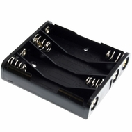 Battery Holder / Open Type for 4 AAA Battery with 6 inch 24AWG Lead (Side By Side)