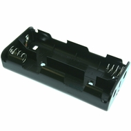 Battery Holder/ Open Type, For 4 C Battery with 6 inch 24AWG Lead (Side By Side)
