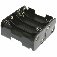 Battery Holder / Open Type for 8 AA Battery with 6 inch 24AWG Lead (End to End)