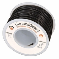 Black 25 Foot 28 AWG stranded hook-up wire