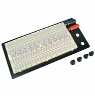 Breadboard - 2 terminal, 1260 tie pts 1 dist strip, 100 tie pts, 2 posts