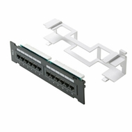 Cat5e 110 Type Patch Panel 12 Port Vertical w/Bracket