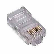 Cat5e Modular Plug for Stranded wire - 100 Pack