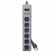 CyberPower CSB606M Essential Surge 6 Outlets Surge with 900J, 6FT Cord and Metal Case