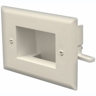 DataComm Easy Mount Recessed Low Voltage Cable Plate - Ivory