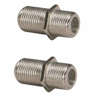 F-Type Dual Female Inline Coupler - Pack of 2