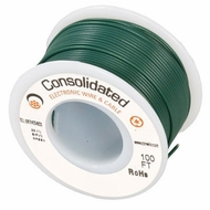 Green 25 Foot 18 AWG stranded hook-up wire