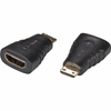 HDMI to HDMI Mini - Type A Female to Mini Type C Male - Retail Packaged