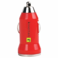 iEssentials IE-PCPUSB-RD 1A iPhone� / iPod� / Smartphone USB Car Charger - Red